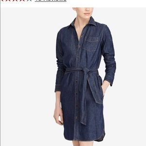 Lauren-Ralph Lauren denim shirt dress
